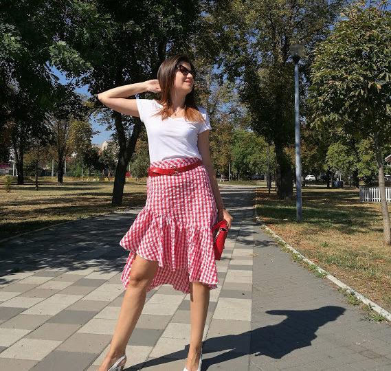 ginhgam-skirt