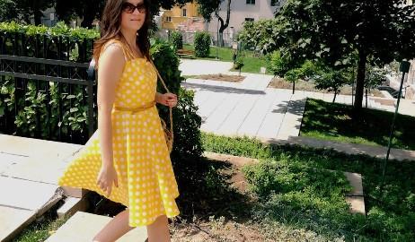 yellow-polka-dots-dress