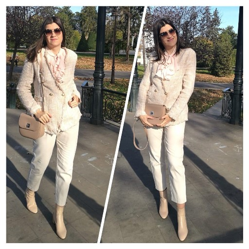 total beige outfit
