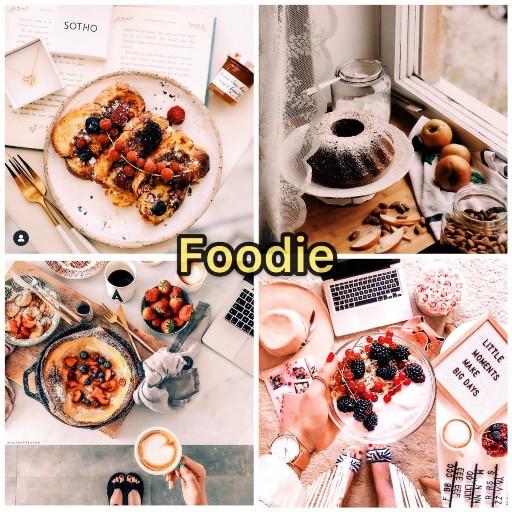 food flatlay