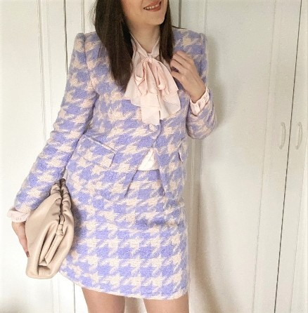 Tweed Houndstooth Two Piece Set