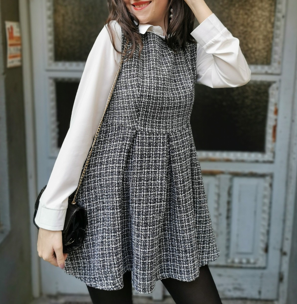 Tweed 2 in 1 Dress