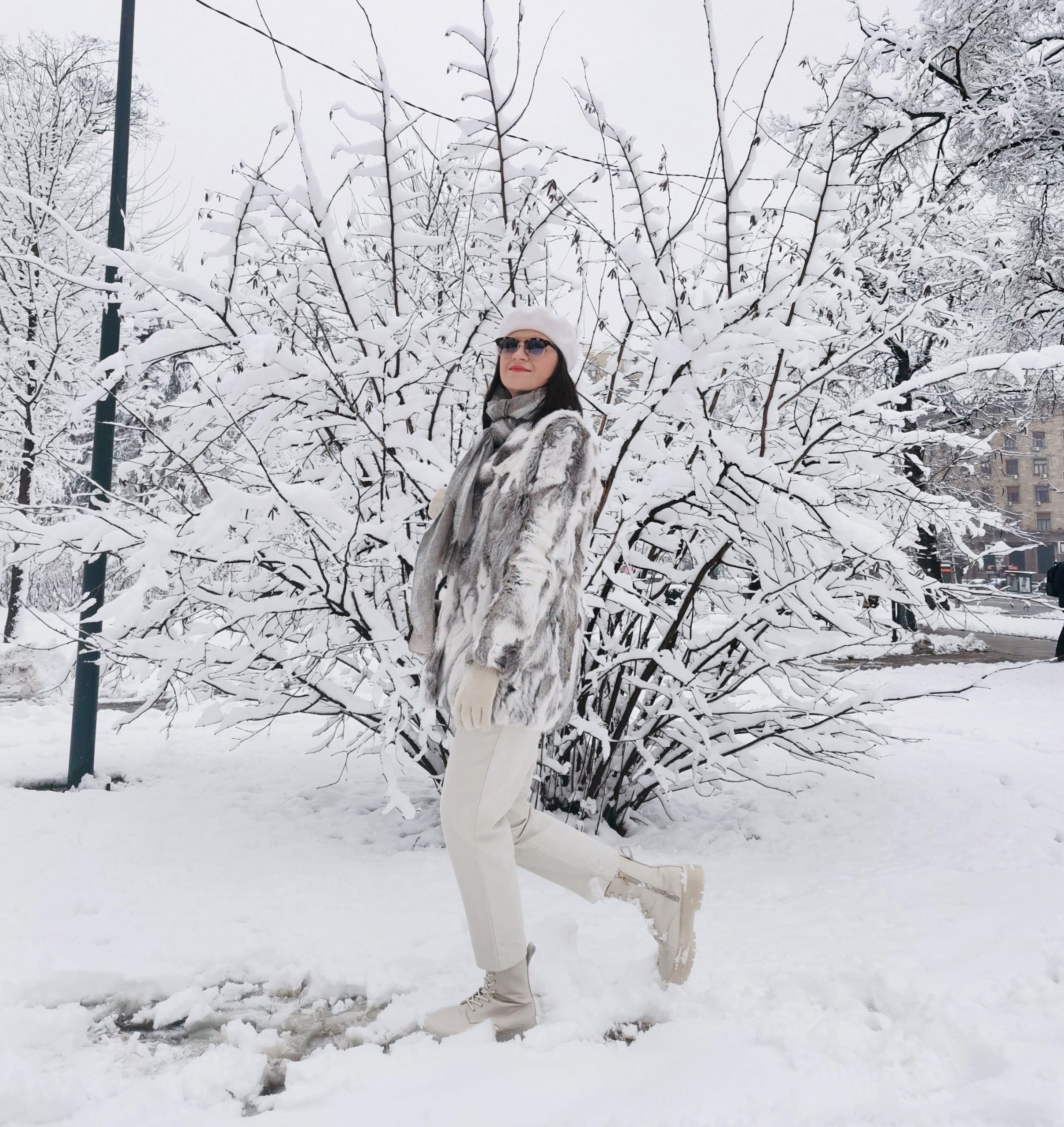 chic style in the snow