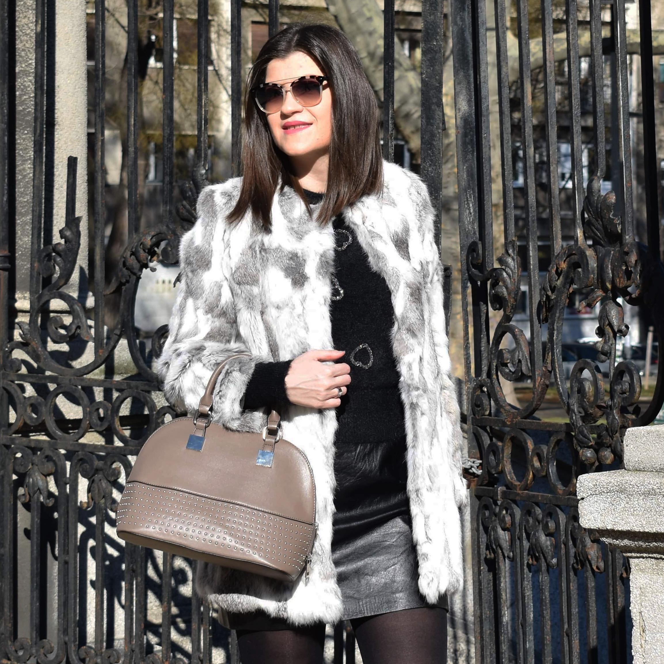Fur Coat Trendy Look
