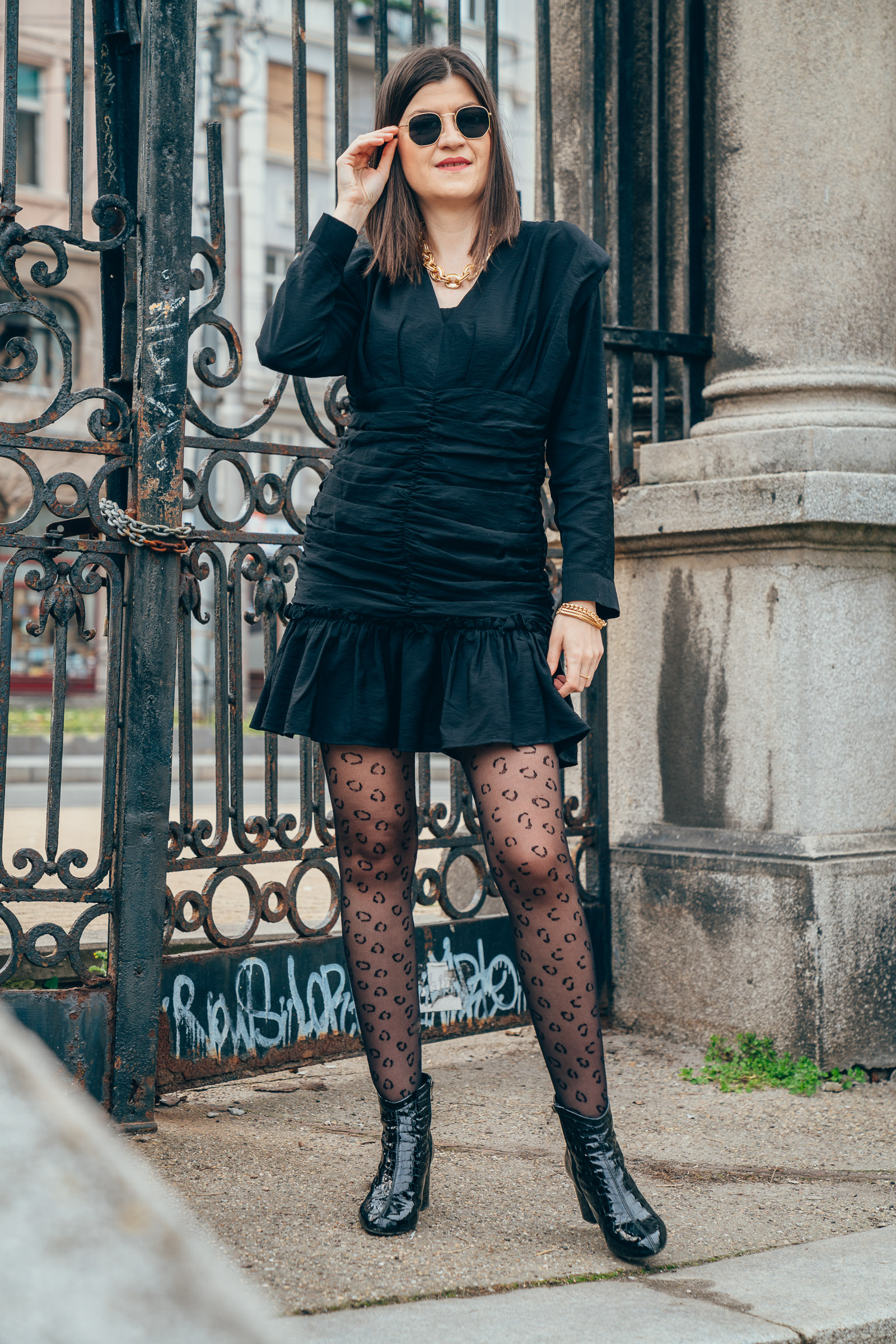 lbd and leopard tights