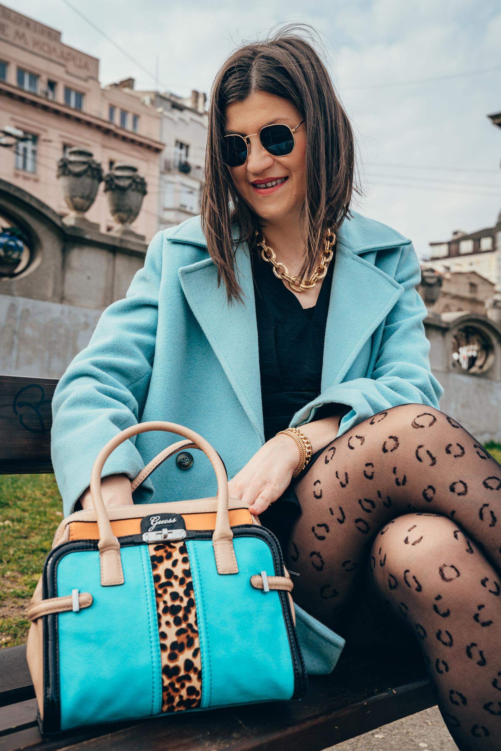 leopard print fashion tights
