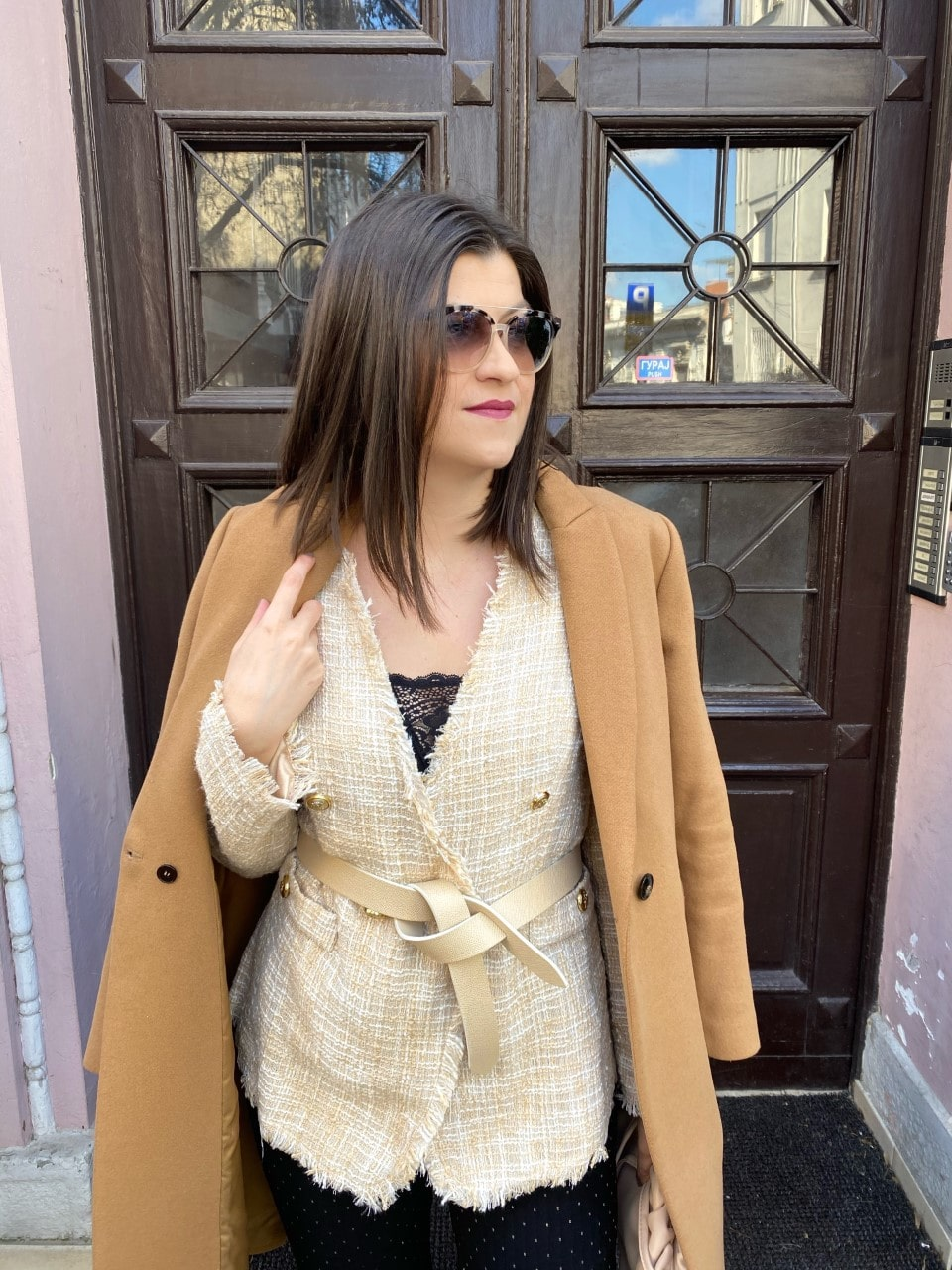 Beige and Camel Outfit