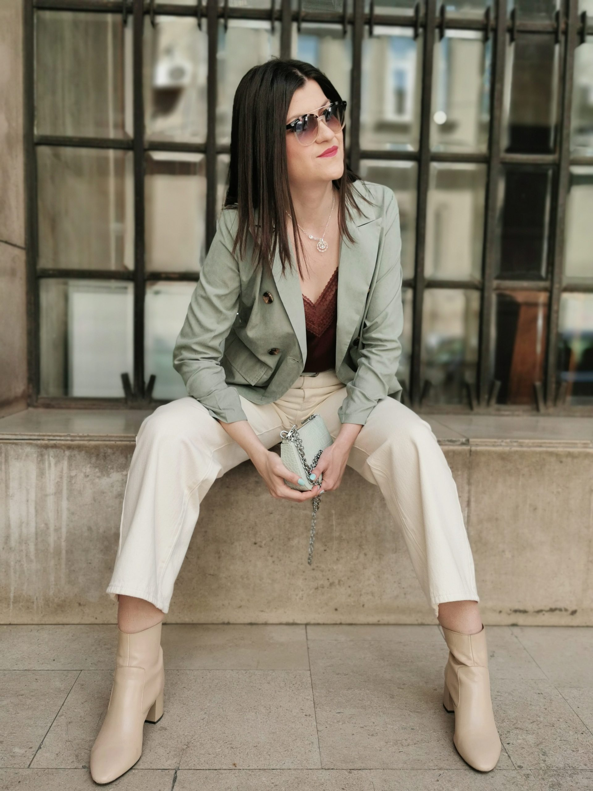 Sage Green & Beige Outfit Idea