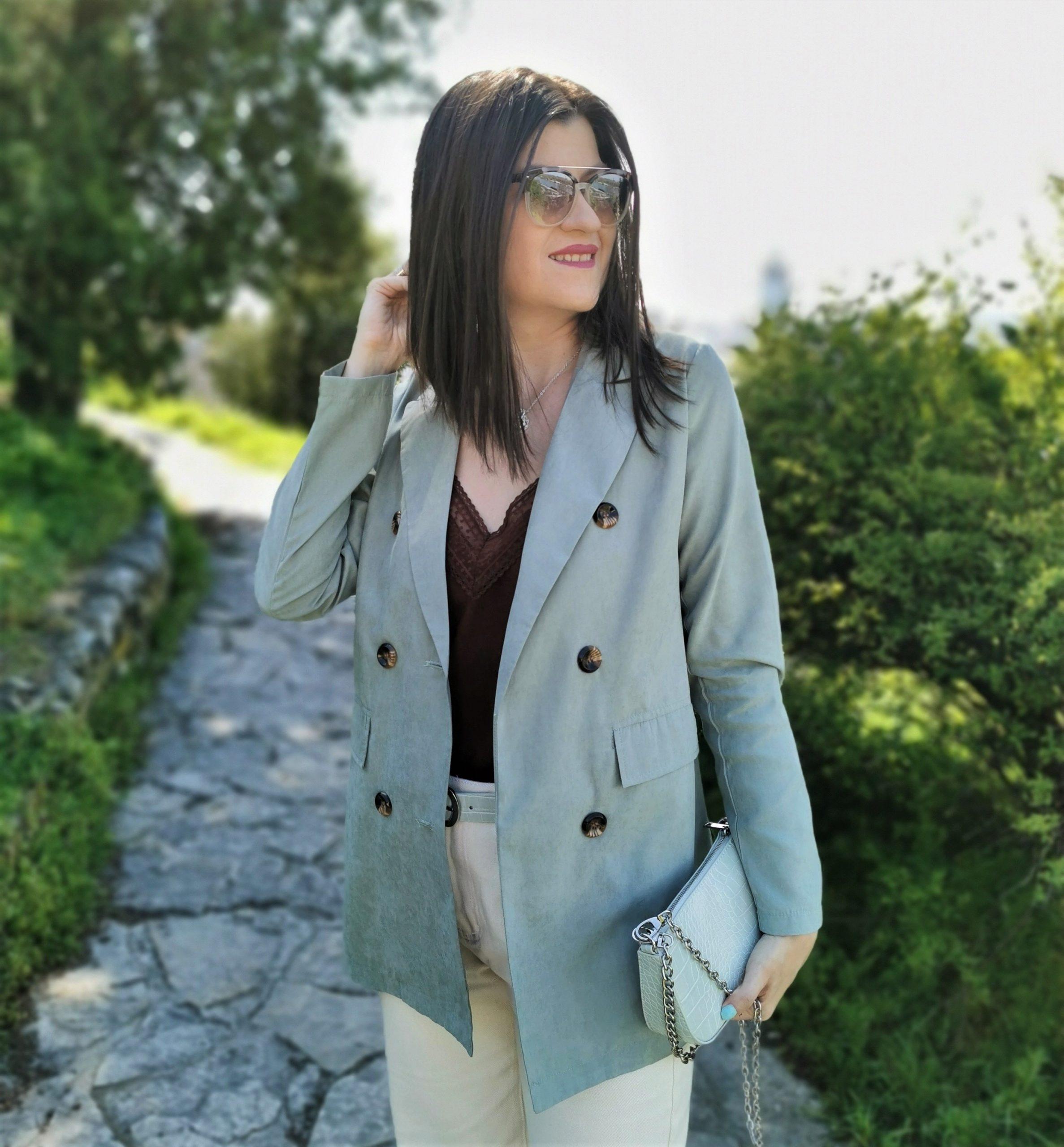Sage green blazer