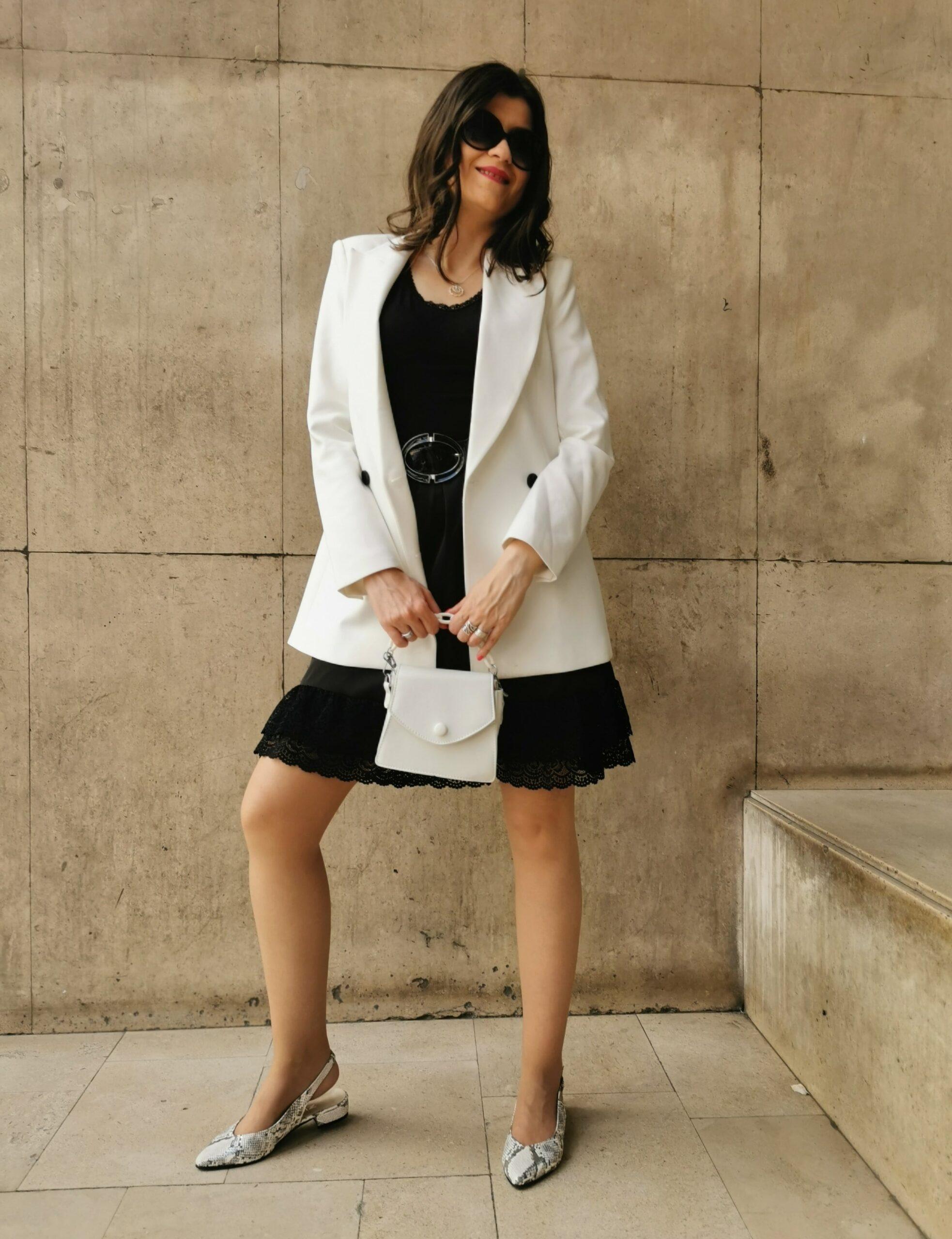 black & white outfit idea