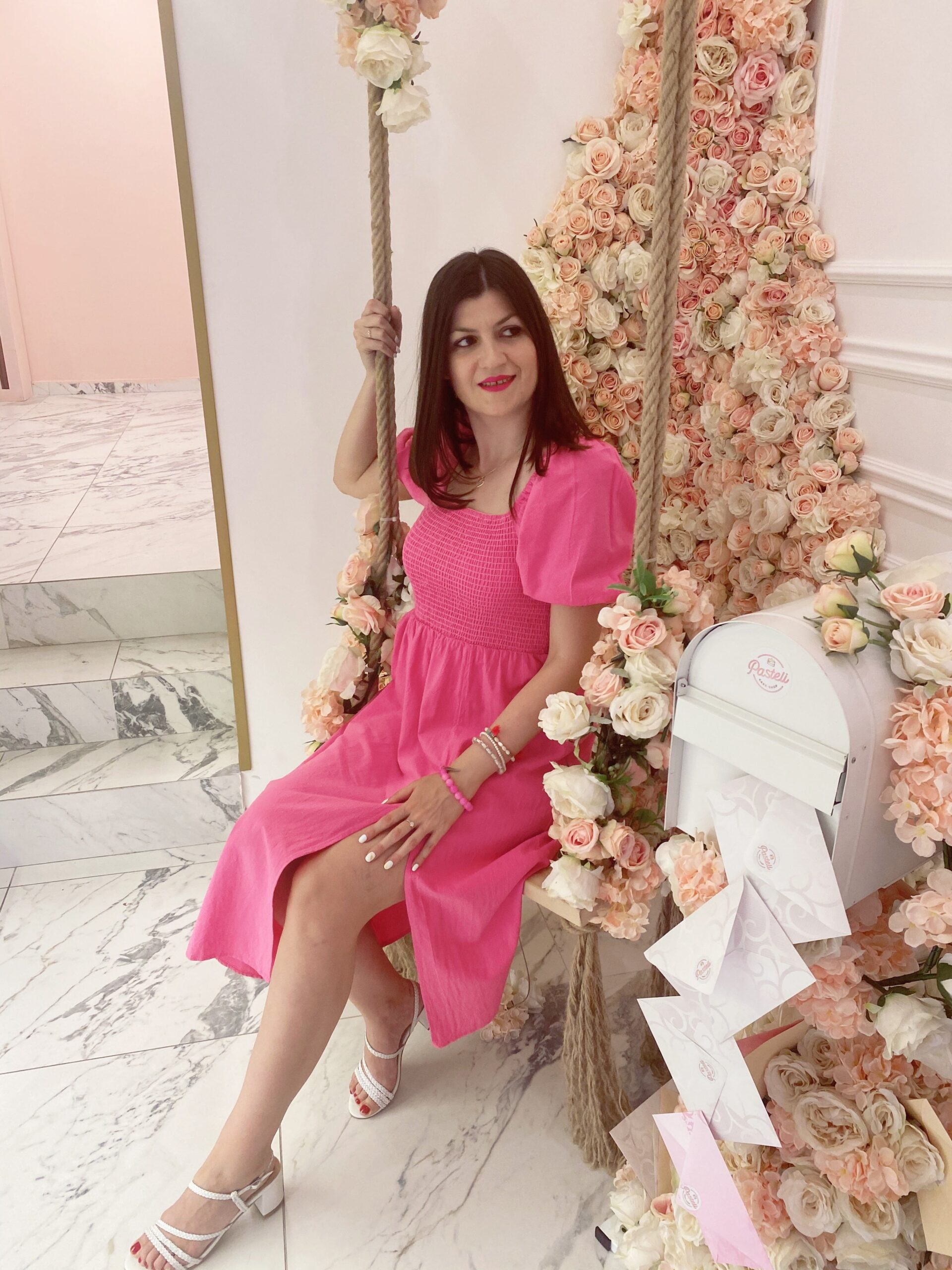 cuteness overload look with pink dress