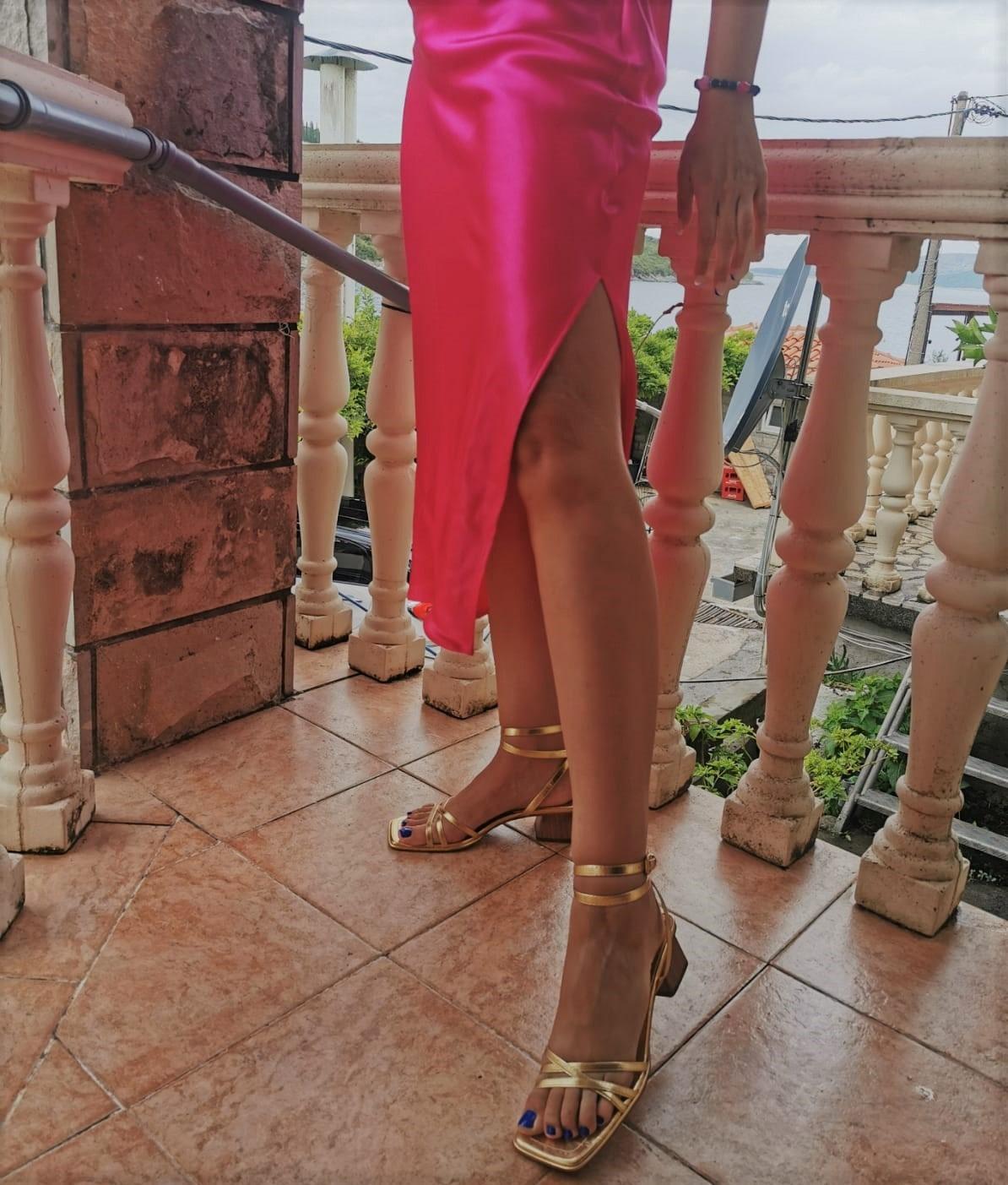 zara golden sandals