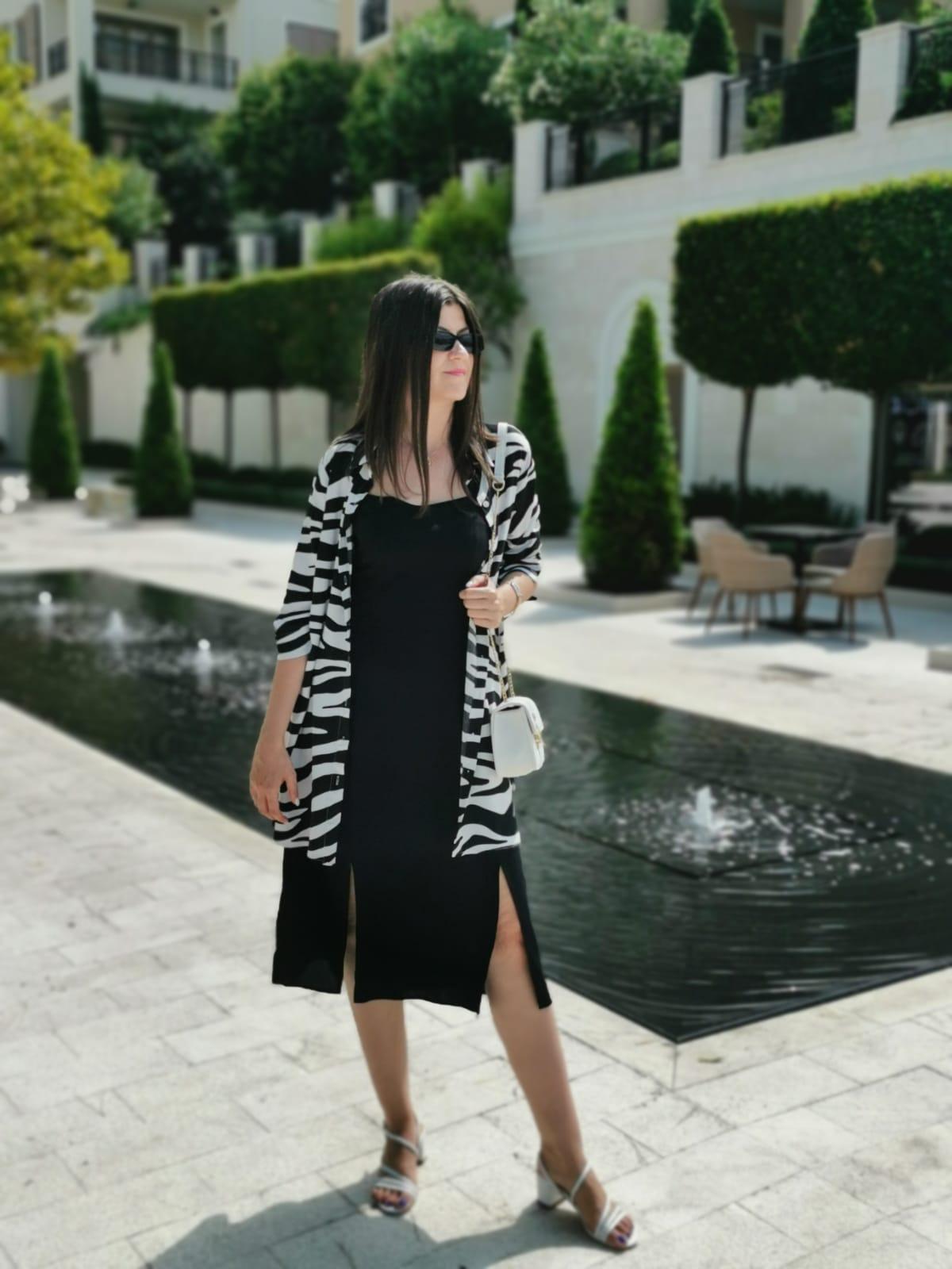 zebra print outfit idea